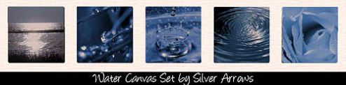 Water Canvas Set by Silver Arrows