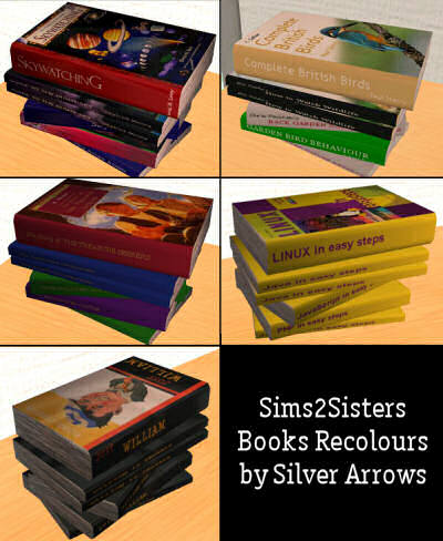 Sims2Sisters Books Recolours - Set of Five