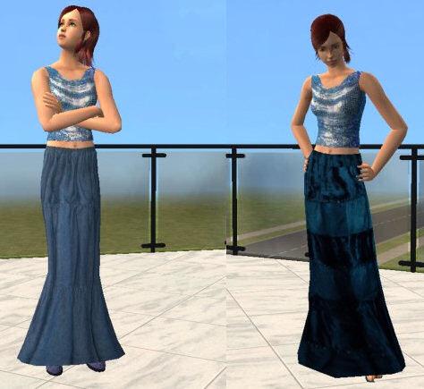 Blue Hippy Skirts