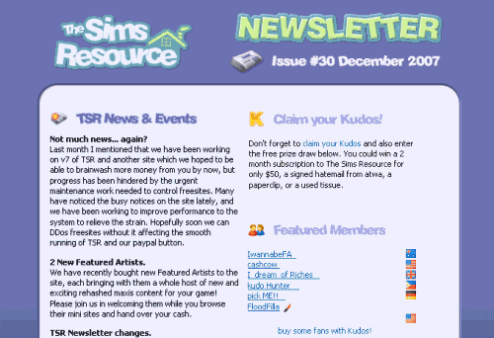 TSR Newsletter