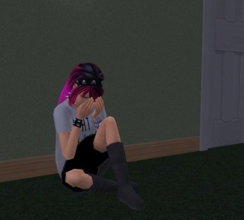 Young Jasmine crying